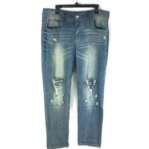 Dollhouse Destructed Skinny Jeans Sz 18 Plus NWT